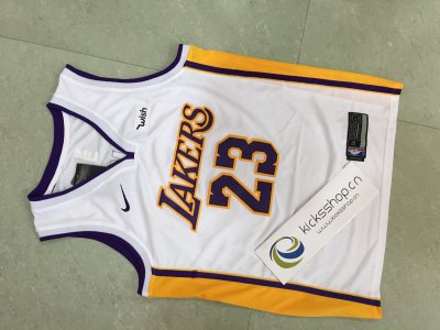 Los Angeles Lakers #23 LeBron James White Stitched NBA Jersey