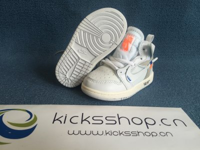 Authentic Air Jordan 1 Off X White White Baby shoes