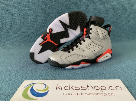 "Authentic Air Jordan 6 ""Reflective Silver"""