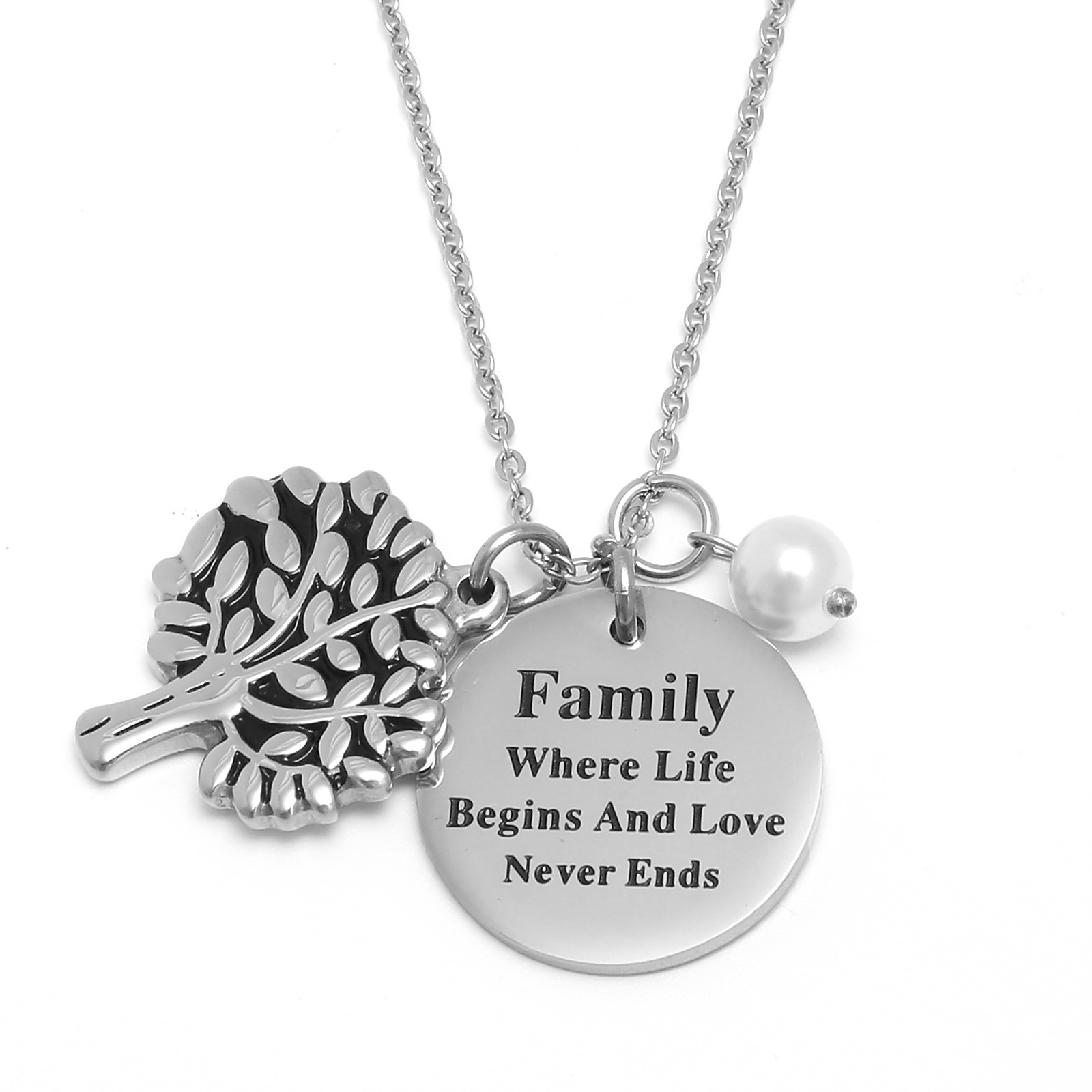 Us 21 stainless steel family love tree pendant necklace www us 21 stainless steel family love tree pendant necklace since12 aloadofball Image collections