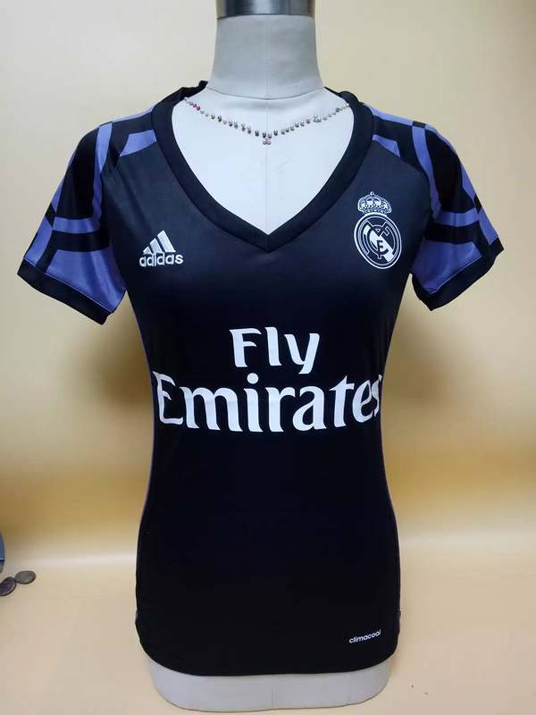 buy online 494af 06c0b Real Madrid Third Away Black Woman Soccer Jersey 2016/2017 ...