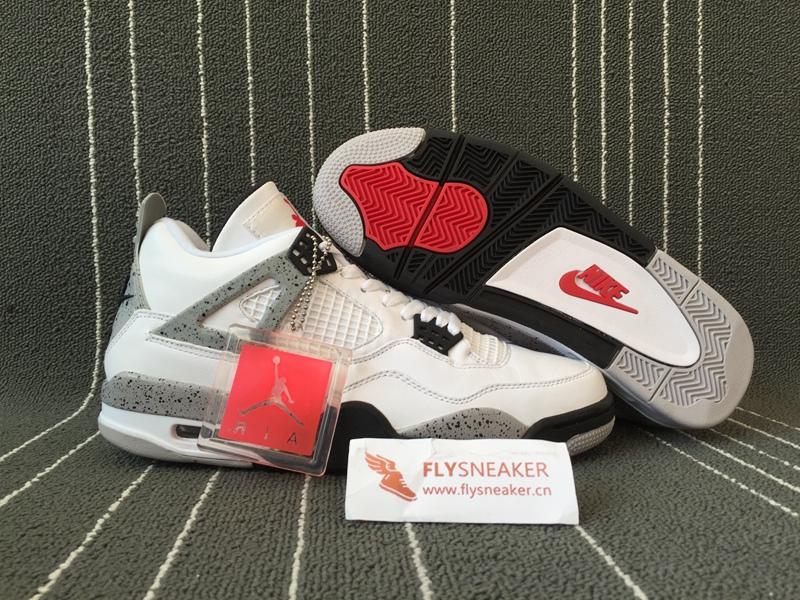 new style 980f5 7e891 Authentic Air Jordan 4 Retro OG 89 White Cement. Loading zoom