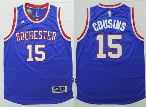 sneakers for cheap 23dc7 0a904 Sacramento Kings #15 DeMarcus Cousins Light Blue 2014-15 Hardwood Classics  Stitched NBA Jersey