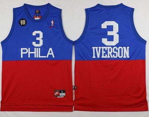 allen iverson blue jersey