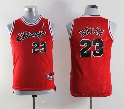 best sneakers 5235d 47491 Nike Chicago Bulls  23 Michael Jordan Red Throwback Stitched Youth NBA  Jersey. Loading zoom