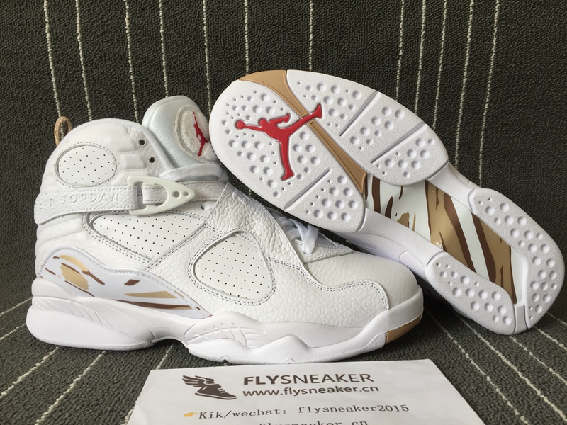 newest b7aa8 26c0e Authentic Air Jordan 8 White OVO