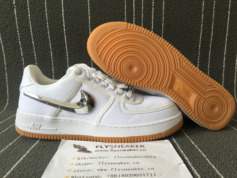 official photos 94921 c4f20 NIKE AIR FORCE 1 LOW TRAVIS SCOTT. Loading zoom