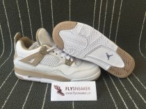 Authentic Air Jordan 4 Retro GS  Linen