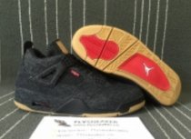 Authentic Air Jordan4 GS Levi's Black