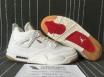 Authentic Air Jordan4 GS Levi's White