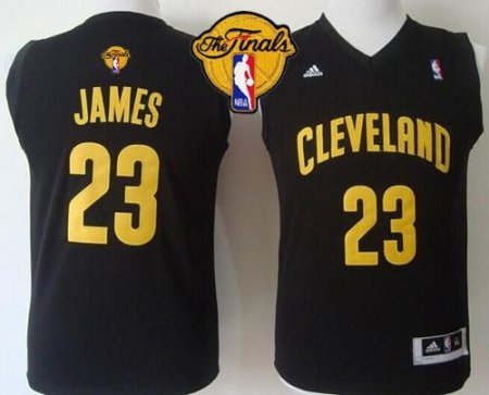 buy online 2d599 a62c4 Revolution 30 Cleveland Cavaliers #23 LeBron James Black The Finals Patch  Stitched Youth NBA Jersey