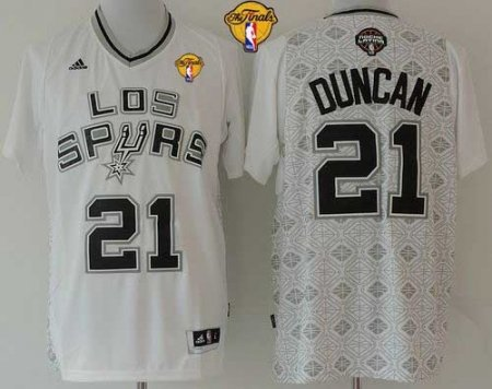 50% off san antonio spurs 21 tim duncan white new latin nights finals patch  stitched 13aba4091