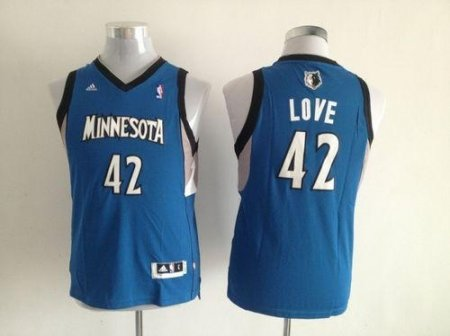 premium selection 3a19a ca012 Minnesota Timberwolves #42 Kevin Love Blue Stitched Youth NBA Jersey