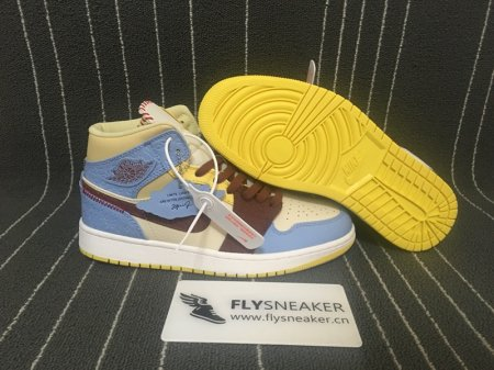 "Authentic Air Jordan1 High Mid ""Fearless"""
