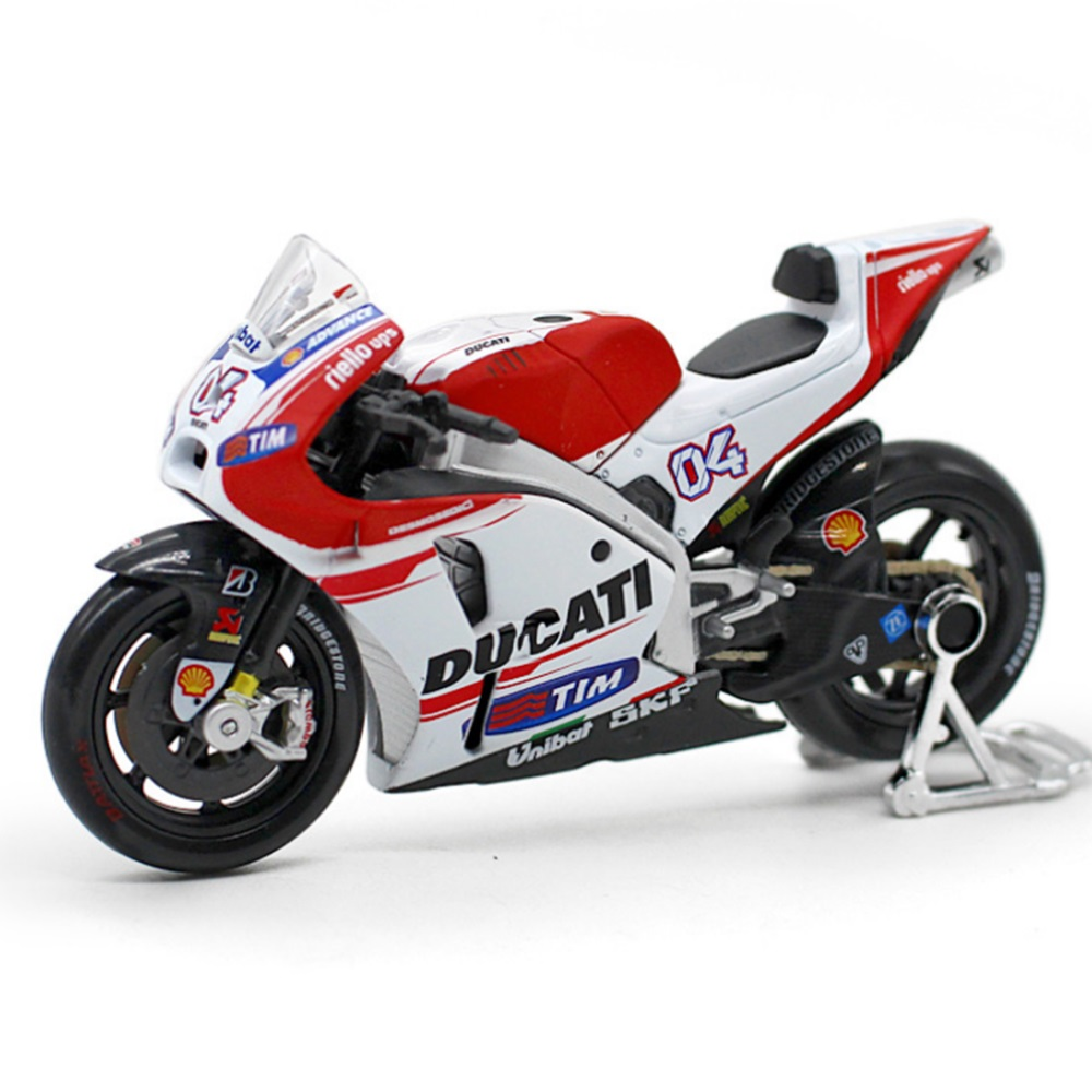1:18 Scale Ducati No.4 GP Simulation Alloy Motorcycle Model - White.
