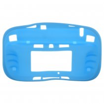 TPU Gel Case Skin Cover for Nintendo Wii U Gamepad Blue