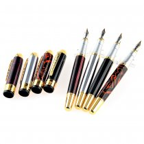 4Pcs Jinhao 250 Classical Fountain Pen In 4 Colors with Crystal Pillow