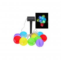 Solar Powered 10 LED Mini Colorful Lantern String Lights