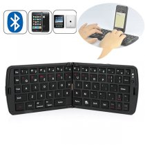 Portable Bluetooth Wireless Folding Keyboard  and Other Cell Phone Tablets - Black