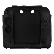 Soft Silicone Skin Case Cover for Nintendo 2DS Black