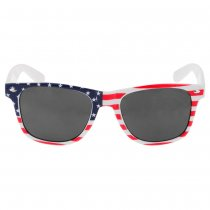Cool Unisex USA Flag Print Grey Lens Sunglasses