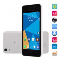 DOOGEE VALENCIA DG800 Smartphone Creative Back Touch Android 4.4 MTK6582 4.5 Inch OTG - White