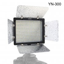 YONGNUO YN-300 LED Illumination Dimming Video Light Lamp SLR Camera DV Camcorder for Cannon Nikon + Remote Control