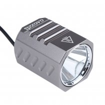 CREE XM-L2 LED 4-Mode 1200 Lumens Bicycle Front Light and Headlight with 4400mAh Battery Pack Charger GT - Grey