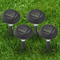 4Pcs Outdoor LED Solar Energy Automatic Rechargeable Powered Light Garden Lawn Lamp