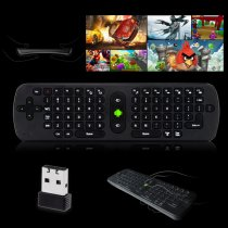 RC11 Mini Air Mouse + 2.4G Wireless Keyboard for Android Mini PC TV Box/ Computer - Black