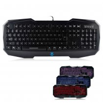 AULA BEFIRE Waterproof Blue Backlit USB Wired 104-Key Gaming Keyboard