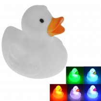 Cute Duck LED 7 Color Changing Small Light Mood Lamp Toy for Baby Kid