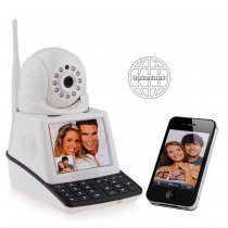 eRobot Network Phone Camera Wireless Free Video Call IP Camera and Alarm