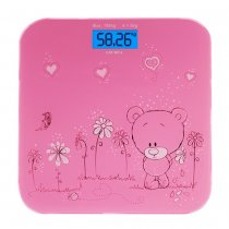 Precision Backlit Bear Pattern LCD Display Digital Scale Bathroom Body Weight Heath Fitness Electronic Scale - Blue