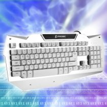 Prosic 7-Color LED Backlit USB Wired 104-Key Gaming Keyboard