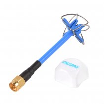 5.8GHz High Gain Circular Polarized Transmitter Four Leaf Clover Antenna For Professional Racing Drone Compact Size