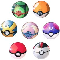 7 Pcs Pokemon Fridge Magnet Fashion Pokemon Snap Crystal Glass Decoration Magnet - Color Random