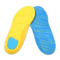 Summer Sweat Absorption Thickening Reduce Vibration Deodorant Breathable PU Soft Sports Insoles