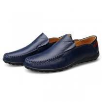 US Size 6.5-11.5 Men Leather Slip On Casual Flat Oxfords
