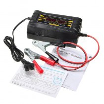 12V 10A Smart Fast Battery Charger LCD Display Souer For Car Motorcycle