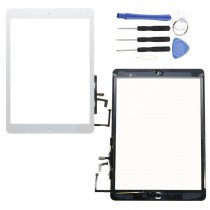 Touch Screen Digitizer Glass Replacement Assembly with Home Button Tools Kit for iPad Air