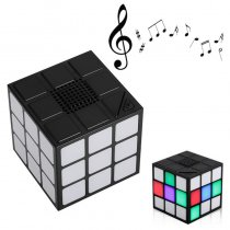 Universal Portable LED Magic Cube Handsfree Wireless FM Radio Bluetooth Speaker for Xiaomi Sansumg