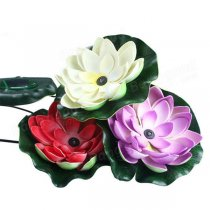 0.3W Solar Lotus Flower LED Floating Light for Pond Pool Garden Fountain Decoration
