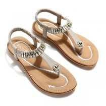 SOCOFY Big Size Women Summer Soft Sole Slip On Outdoor Beach Sandals