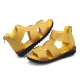 SOCOFY Zipper Casual Genuine Leather Flat Sandals