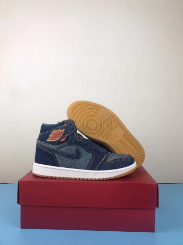 pick up 3ed66 59aad Authentic Air Jordan 1 Levis