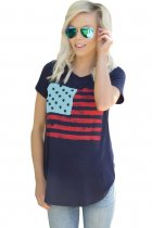All American Flag T-shirt in Navy
