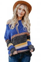 Blue Horizons Colorblock Striped Sweater