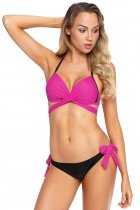 Rosy Wrap Front Halter Bikini Tie Side Bottom Swimsuit