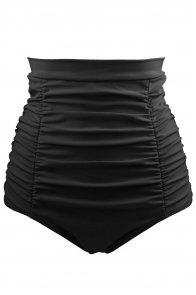 Black Retro High Waisted Swim Short